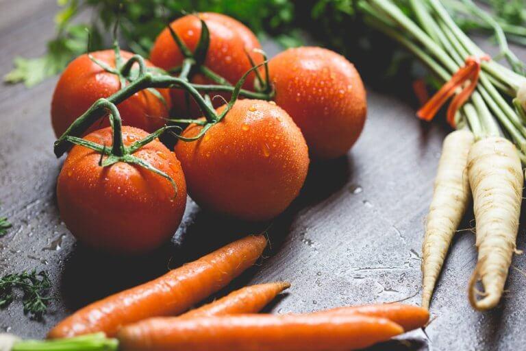 美食拍攝番茄
