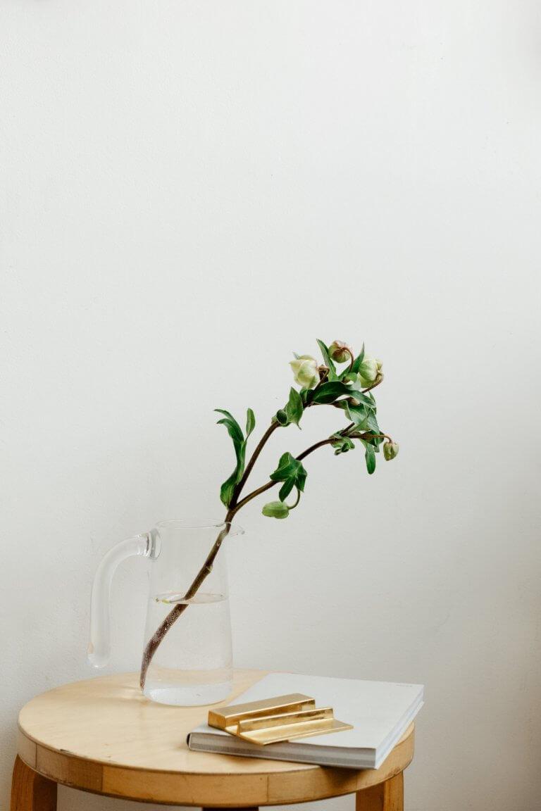 "flower buds on a branch sit in a jug of water Instagram當中有著很多主題的風格照片攝影,如:家庭日常的食物攝影,穿搭日常...等, 那麼今天來聊聊貼近自己私生活的寫真吧! 首先,考慮私下拍東西的時候,""是否有喜歡東西"",有愛好或者想把它變成愛好的事物""。 以這樣的基礎是相當重要的,如果沒有喜愛的成分,拍攝個人生活的延伸會有點令人生畏。 仔細思考一下生活中的自己喜歡怎麼的生活方式,及室內的裝飾及佈置, 想想自己喜歡的生活方式。 拍攝方式: 1.保持房間整潔是最首要的,創造一個讓自己想拍照的環境 2.自己製作出2.3個最喜歡的內部區域 3.製作可用於拍攝當中的配件及物品,襯托效果"